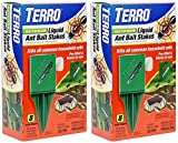 T1812 Outdoor Liquid Ant Killer Bait Stakes - 8 Traps - 2 Pack