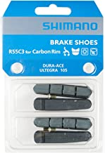 SHIMANO 2 Pairs Brake Pads for Carbon Rim R55C3 Dura Ace/Ultegra / 105 with Fixing Bolts