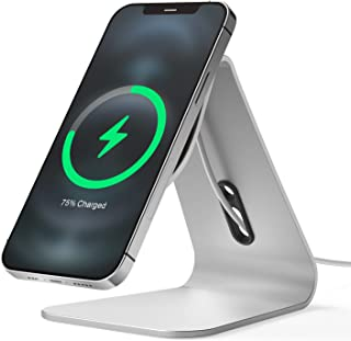 elago MS4 Charging Stand Compatible with MagSafe Charger - Aluminum Phone Stand Compatible with iPhone 12 Models [Cable No...