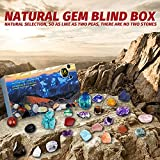 meekiee Healing Crystal Advent Calendar 2021 Art Calendar ,18PCS Ore Gift Box Kids and Adults Christmas Countdown Calendar 18 Days Count Down Stone Collection Party Favor Xmas Gifts