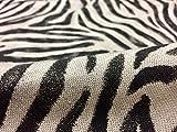 ZEBRA HAUT Animal Print Stoff Leinen Baumwollmischung -