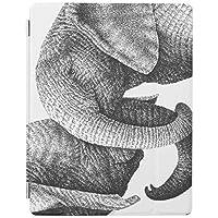 RECASO アフリカゾウ iPad Air 4 ケース 2020 iPad 10.9インチ 半透明カバー 強化ガラスフィルム付き オートスリープ機能付き 第二世代Pencil ワイヤレス充電対応 三つ折りスマートケース