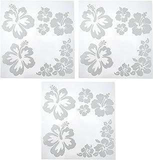 VORCOOL Conjuntos Exclusivos 3 Delicada Flor de Hibisco Veículos de Carro Decalques Decorativos