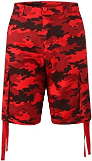 PTSports Mens Camo Cargo Golf Shorts Casual Work Shorts with Big Pockets