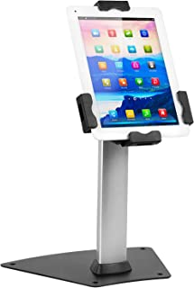 Mount-It! Secure Universal Tablet Kiosk POS - Locking Tablet POS Counter-top Stand Adjustable Clamp for iPad, iPad Mini, Samsung Galaxy Tab, Surface Go and 7.9