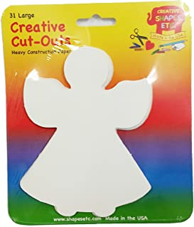 Angel Large Single Color Creative Cut-Outs, 5.5