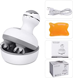 UNIROI Electric Head Massager with 84 Massage Nodes IPX7 Waterproof Scalp Massager & Body Massage for Blood Circulation & Soothing Pets ST-701 (White 02 Electric Scalp Massager)