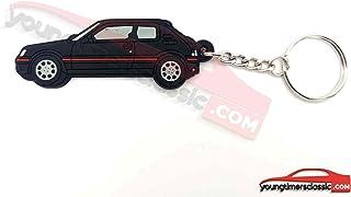 youngtimersclassic Peugeot Llavero 205 GTI Suave PVC - Negro