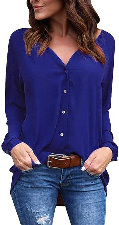 VEMOW Camisetas Mujer Verano Blusa Elegante Chicas Mujer ...