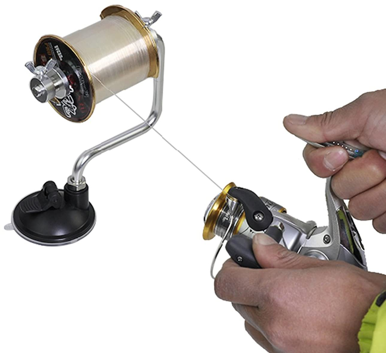 放出南東不適切な【 リール の 糸巻き に 便利 】 釣り ラインワインダー 糸巻き機 負荷 調節 可能 吸盤 固定
