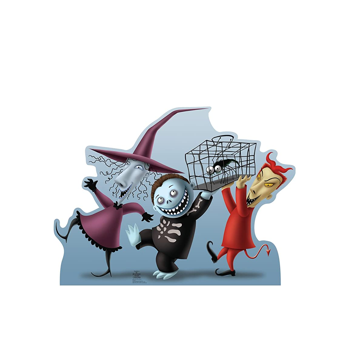 Advanced Graphics Lock, Shock & Barrel Life Size Cardboard Cutout Standup - Tim Burton's The Nightmare Before Christmas