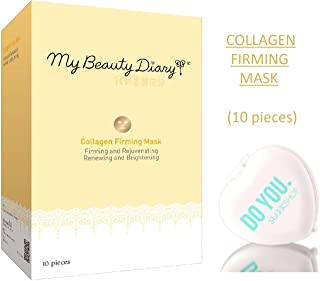 MY BEAUTY DIARY Facial Sheet Mask, COLLAGEN FIRMING, Rejuvenating, Renewing, Brightening (with Sleek Compact Mirror) #1 Se...