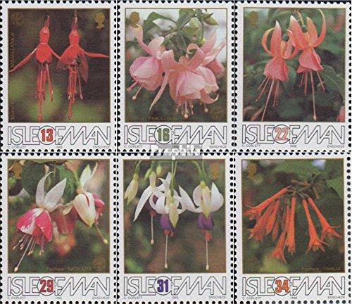 Verenigd Koninkrijk - Island Man Mi.-Aantal.: 375-380 (compleet.Kwestie.) 1988 Fuchsia (Postzegels voor verzamelaars) plant