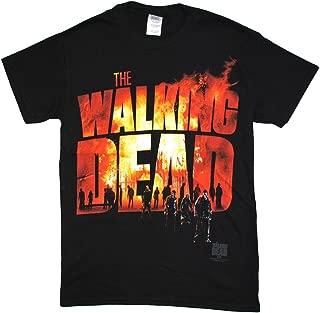 Walking Dead The Men's Two Fire Logo 2015 T-Shirt