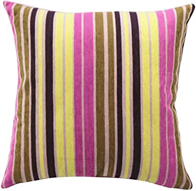 Greendale Home Fashions IC4803S2-Vivid Indoor Accent Pillows with Vivid Stripe 17-Inch Set of 2