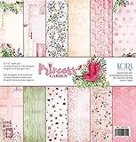 Pack de 12 Papeles (12'x12'/30,5x30,5cm) - Princess Graden