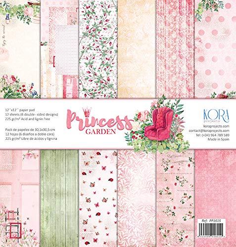 """Pack de 12 Papeles (12""""x12""""/30,5x30,5cm) - Princess Graden"""