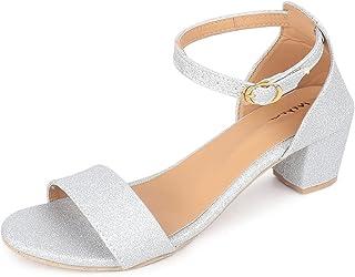 Myra Women's Shimmer Block Heel Sandal - MS1357C