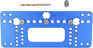 Hardware Jig, Blue Hinge Jig, Woodworking Jig, Aluminium Alloy Handle Hole Puncher, 08610B Type(08610B Type Blue) for Posi...