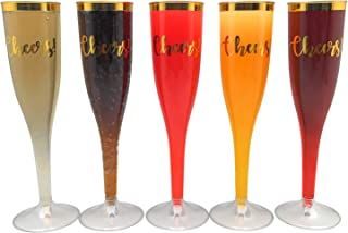 30 pc Gold Rimmed Champagne Toasting Flutes | Cheers! | Champagne Glasses for Wedding Enagagment Parties | Cheers! Bulk Party Pack | Wedding,Engagement Toasting Flutes | Cheers! Champagne Cups