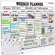 Magnetic Dry Erase Weekly Calendar for Fridge:- 13