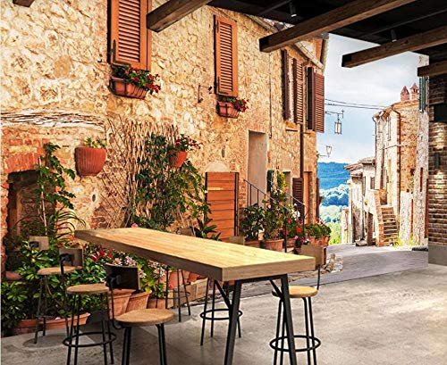 3d fototapete wandbild tapete bild mediterrane straße street view tv hintergrund wand dekorative wand moderne wand dekoration-430 * 300cm
