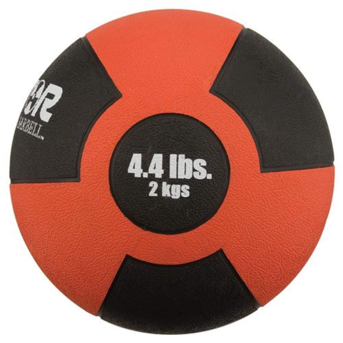 Champion Barbell Rubber Medicine Ball - 4.4 lb. - Red