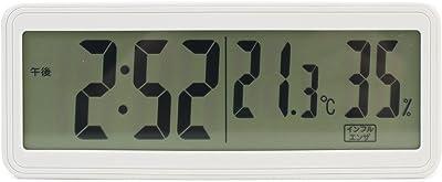 ランデックス(Landex) 温湿度計 デジタル ルームマスター 時計表示 アイボリー YT5256IV