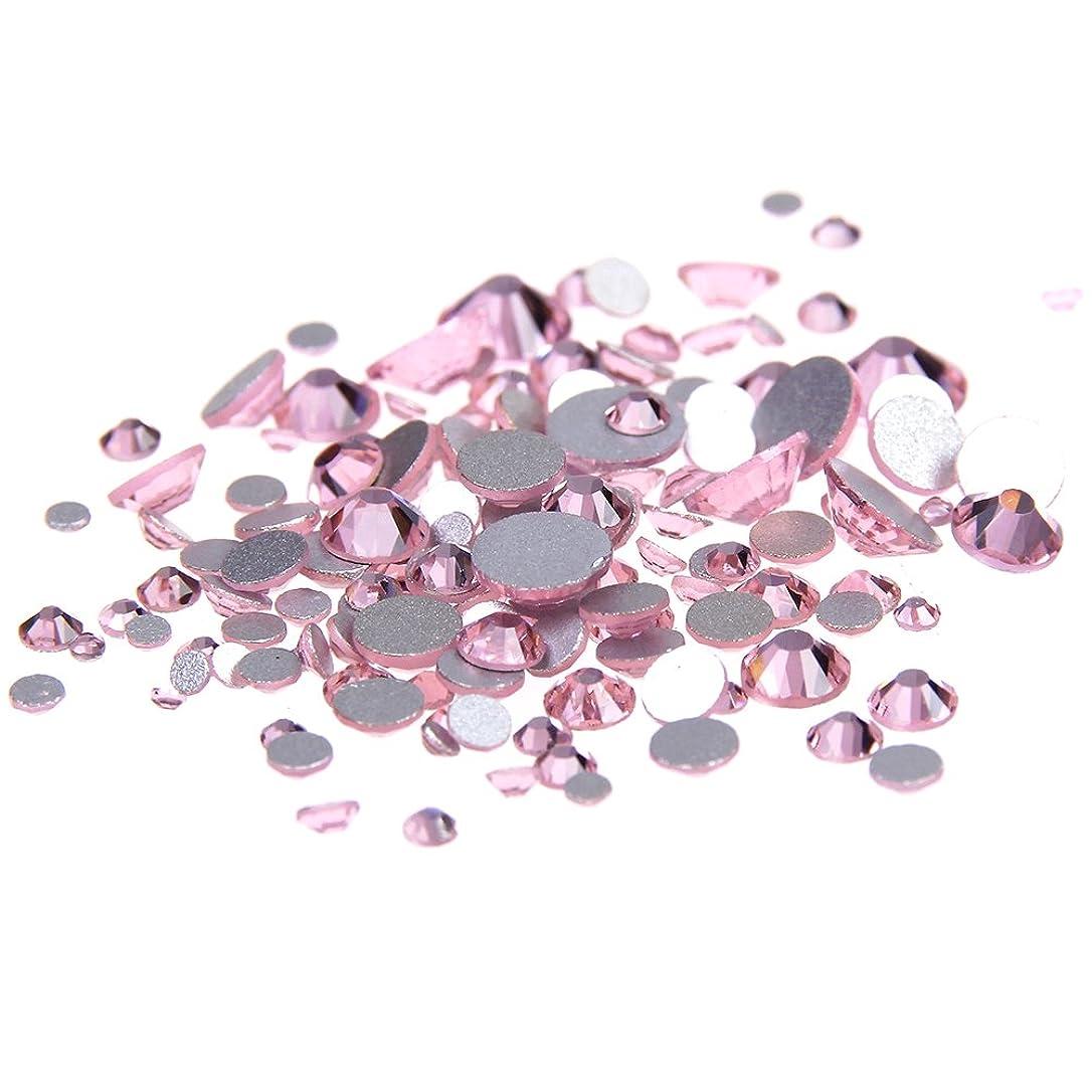 怒る遠足ノイズNizi ジュエリー ブランド ライトローズ ラインストーン は ガラスの材質 ネイル使用 型番ss3-ss34 (SS3 1440pcs)