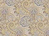Venesto Gardinenstoff Organza Ornamente Paisley Muster gelb