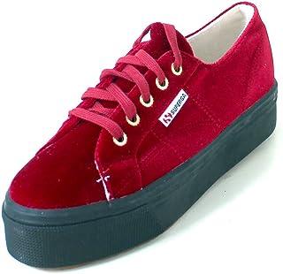 Superga 2790-Velvetw, Chaussures de Gymnastique Femme, Rouge (A77 DK Red), 40 EU