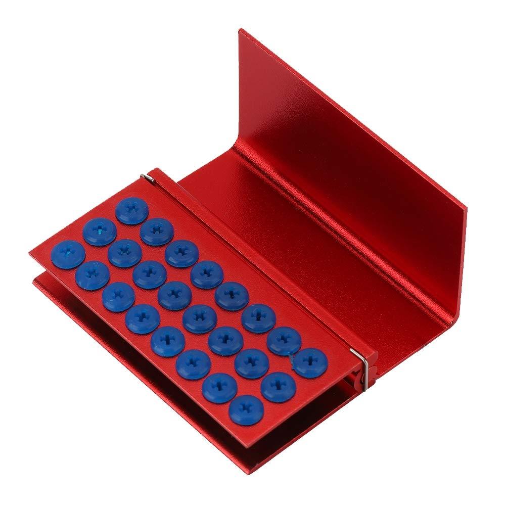 Soporte de Bloque de Fresas dentales, Caja de desinfección roja Fuerte y Duradera, para Fresas dentales caseras: Amazon.es: Hogar