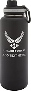 Personalized Engraved Takeya US Air Force Thermo Flask Water Bottle Stainless Steel Sports Tumbler