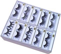 25mm Mink Lashes Wholesale 10 Different Styles 25mm False Eyelashes Thick Strip Makeup Dramatic Long Mink Eyelashes Bulk (10 pairs/package)