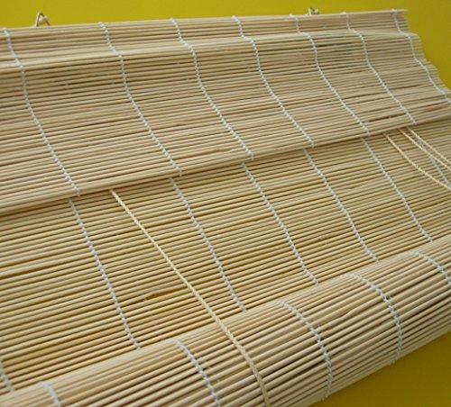 deko-raumshop Bambusrollo - Breite 60 bis 140 cm - Länge 160 und 240 cm - Natur Seitenzugrollo Sichtschutz Fenster Tür Rollos Vorhang Holzrollo (90 x 240 cm)