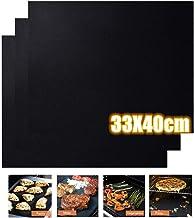 FVE Estera de Barbacoa Alfombrilla Reutilizable de Barbacoa Horno, Gas Carbón, Parrilla y Barbacoa Apto a Carne, Pescado y Verduras 40x33cm (5 x Barbacoa Mat)