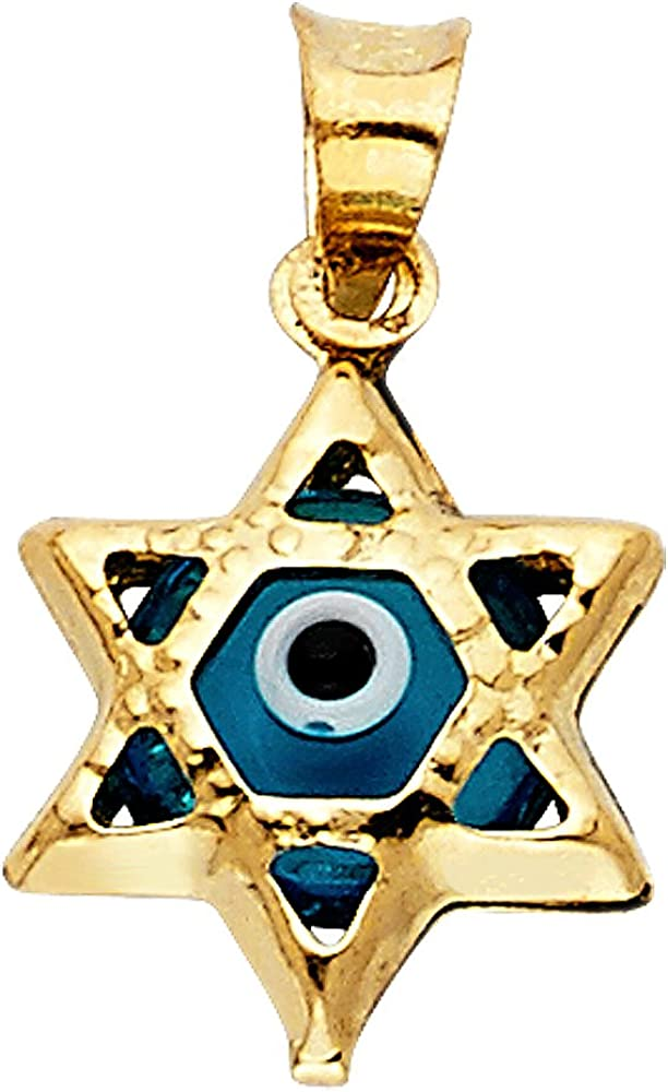 14k Yellow Gold Evil New product Special sale item Pendant Eye Star