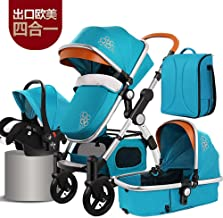 New Baby Stroller 3 in 1 with car seat Luxury Baby Stroller 4 in 1 Travel System Mummy Bag and Baby Diaper Bag Newborn Infant seat Stroller Convertible Bassinet Stroller Foldable Carriage