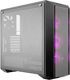 MasterBox Pro 5 RGB ATX Mid-Tower with 3 x 120mm RGB Fans, Tempered Glass Side Panel, DarkMirror Front Panel and Internal Configuration by Cooler Master (Renewed)