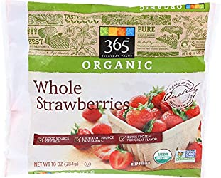365 Everyday Value, Organic Whole Strawberries, 10 oz, (Frozen)