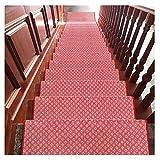 LIYUHOUZUONC Tappeti per Scale Colorful Stair Streads 24x65cm Step Tappetini Antiscivolo Corridore per Corridoi Rosso E Blu 18mm (Color : C, Size : 20 Pieces Set)