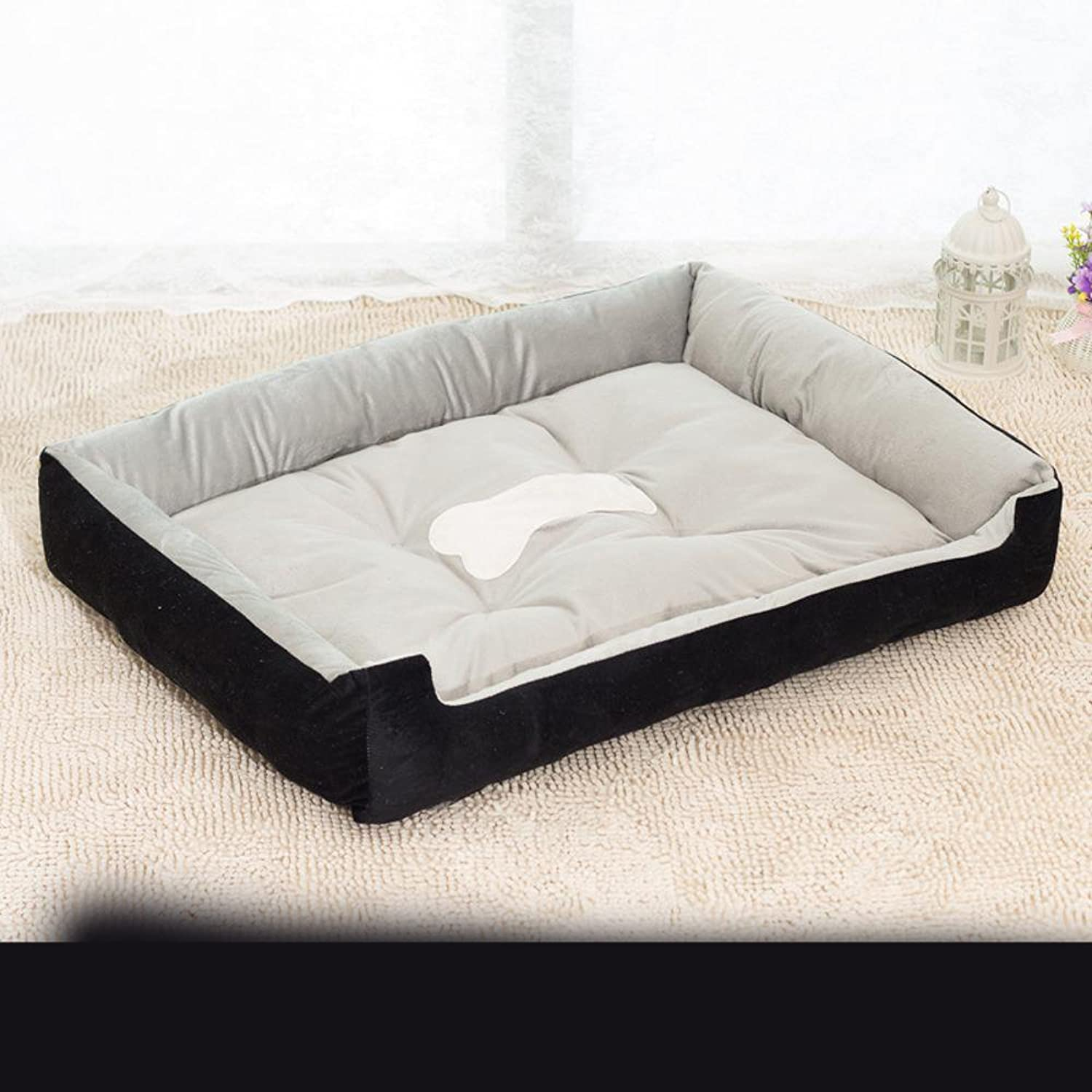 Dixinla Pet Bed Short Plush Large Canine Kennel