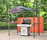 Angel Living BBQ Patio Gazebo 1.5X2.45M Aluminum Tent Grill Gazebo for Outdoor Garden Party Awning Sun Shelter