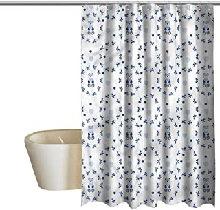 Denruny Shower Curtains with Trees on Them Kids,Ribbons Teddy Bears,W72 x L72,Shower Curtain for Bathroom