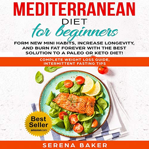 Mediterranean Diet for Beginners audiobook cover art