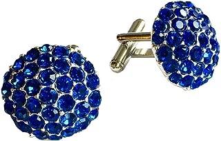 Clinks Cufflinks Mens Crystal Cluster Cufflinks - Sapphire Blue