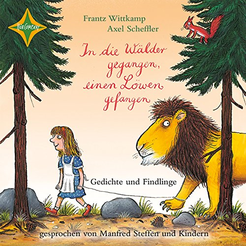 In die Wälder gegangen, einen Löwen gefangen     Gedichte und Findlinge              By:                                                                                                                                 Frantz Wittkamp,                                                                                        Axel Scheffler                               Narrated by:                                                                                                                                 Manfred Steffen                      Length: 41 mins     Not rated yet     Overall 0.0