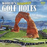 World s Toughest Golf Holes 2022 12 x 12 Inch Monthly Square Wall Calendar, Outdoor Sport