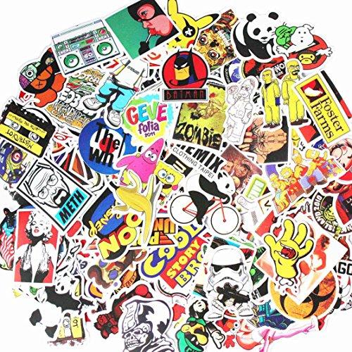 Vinyl-Aufkleber, Motiv Graffiti, für Laptops, Helme, Autos, Skateboards, Gepäck, Computer, Handy, Motorrad, Fahrrad, wasserdicht, sonnenlichtbeständig, verschiedene coole Aufkleber, 200 Stück