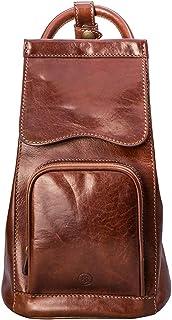 Maxwell Scott Women's Premium Leather Backpack Purse - Carli Tan
